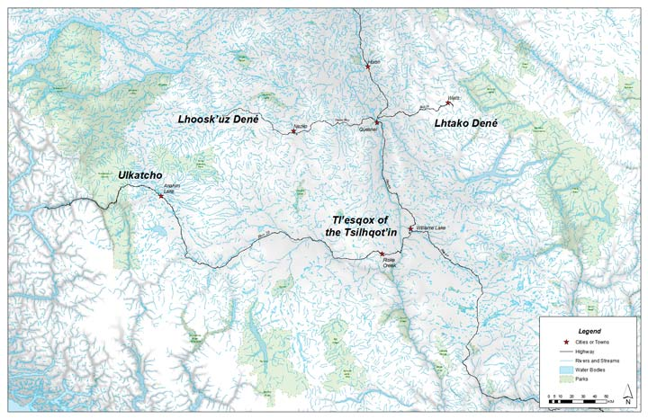 Map of Carrier Chilcotin